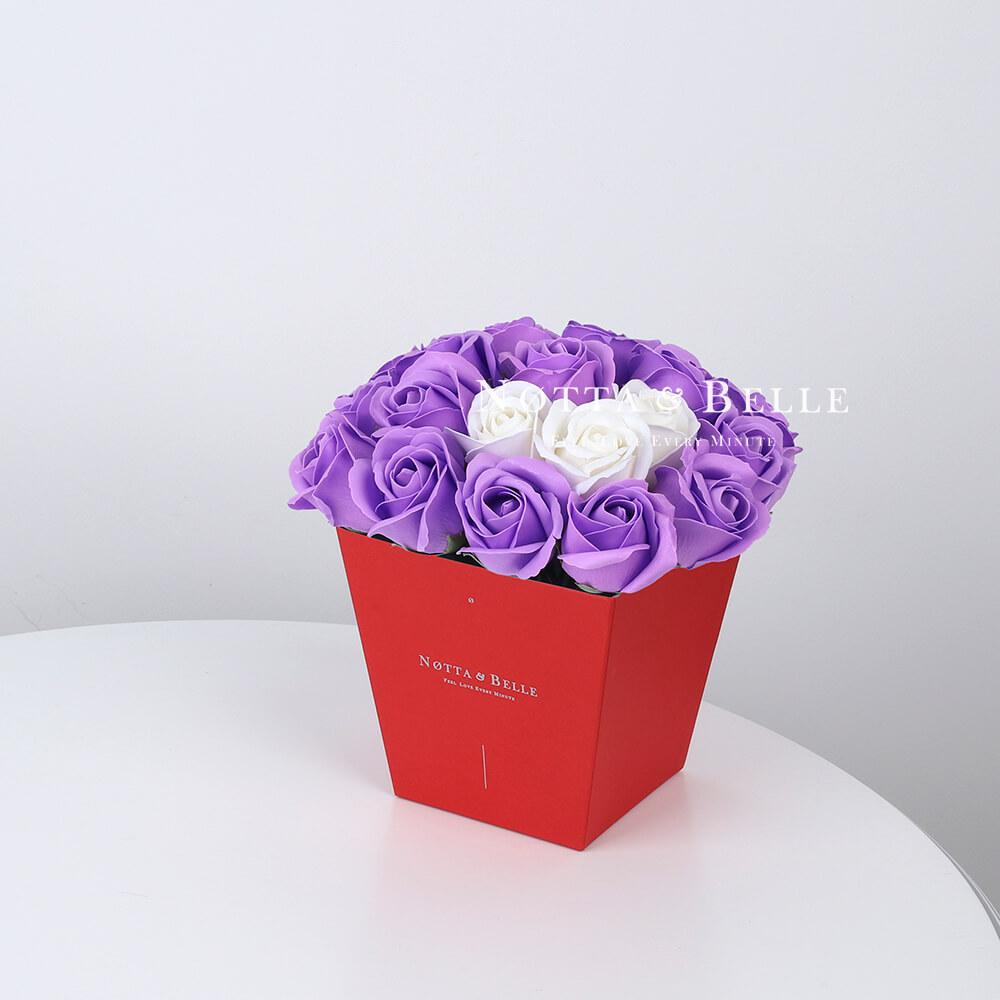 Мыльный букет лавандового цвета №274 из 21 розы