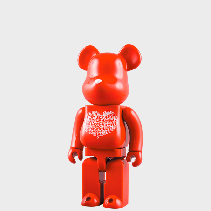 BEARBRICK INTERNATIONAL LOVE HEART 400% фото