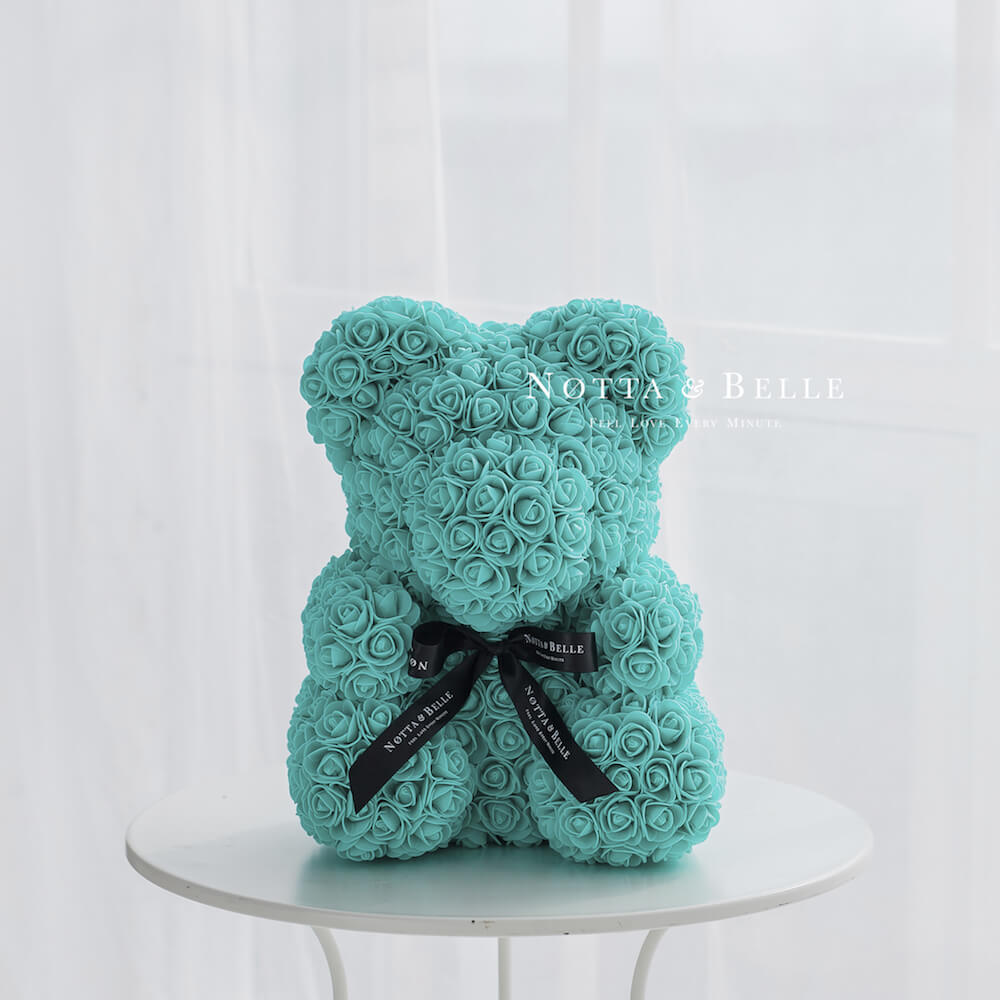 Turquoise Bears from roses - 40 сm