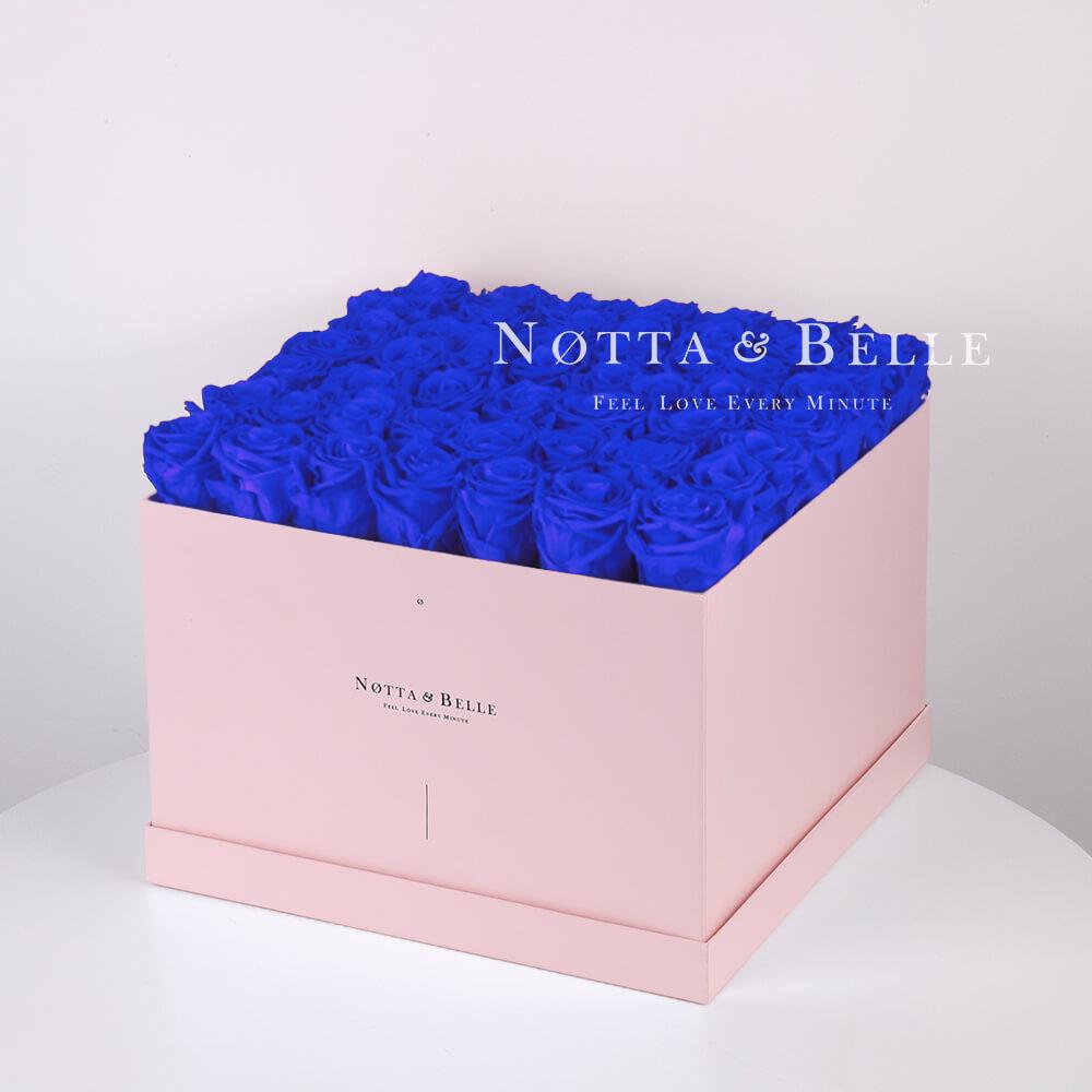 Долговечный букет из 49 синих роз - №735