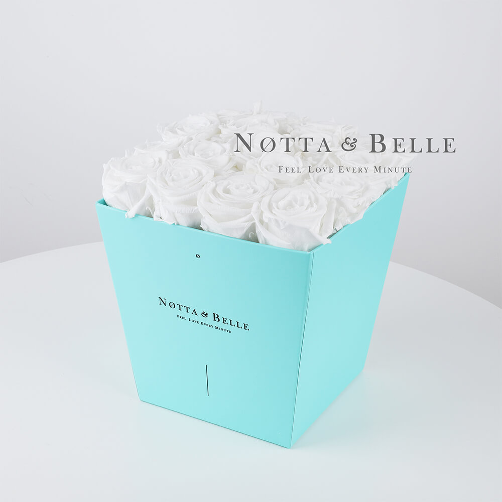 Долговечный букет из 17 белых роз - №283