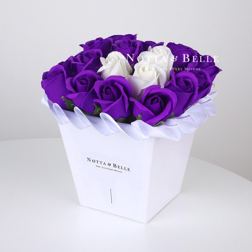 Mylynyy buket lavandovogo cveta №251 iz 21 rozy