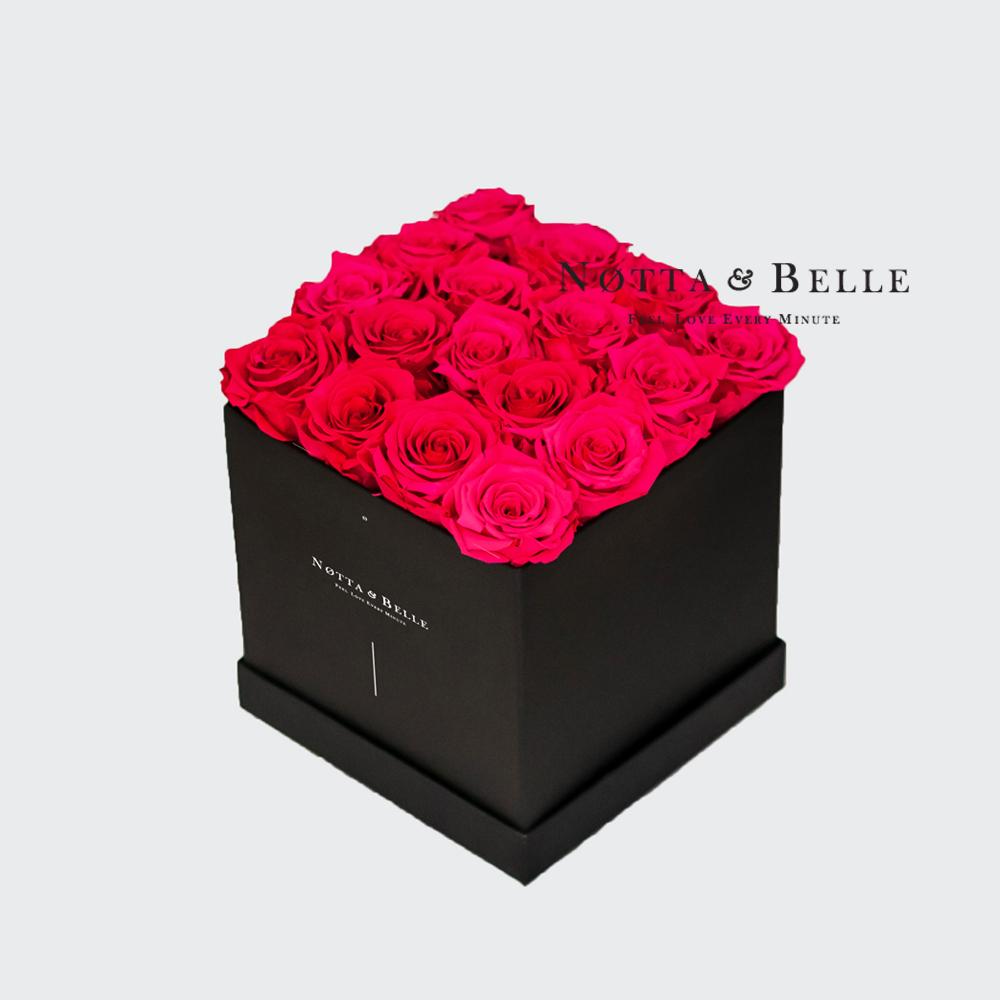 Долговечный букет из красных роз - 17 шт.
