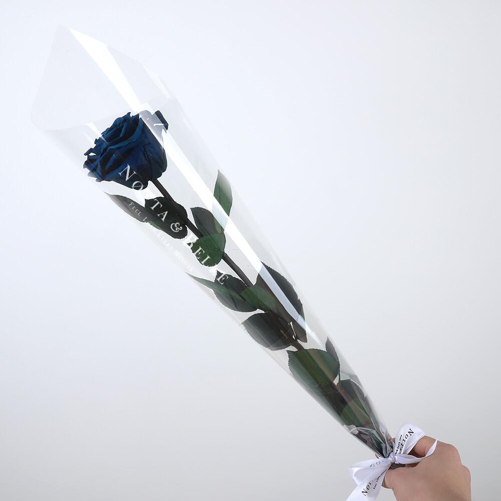 Синяя роза на стебле - Premium