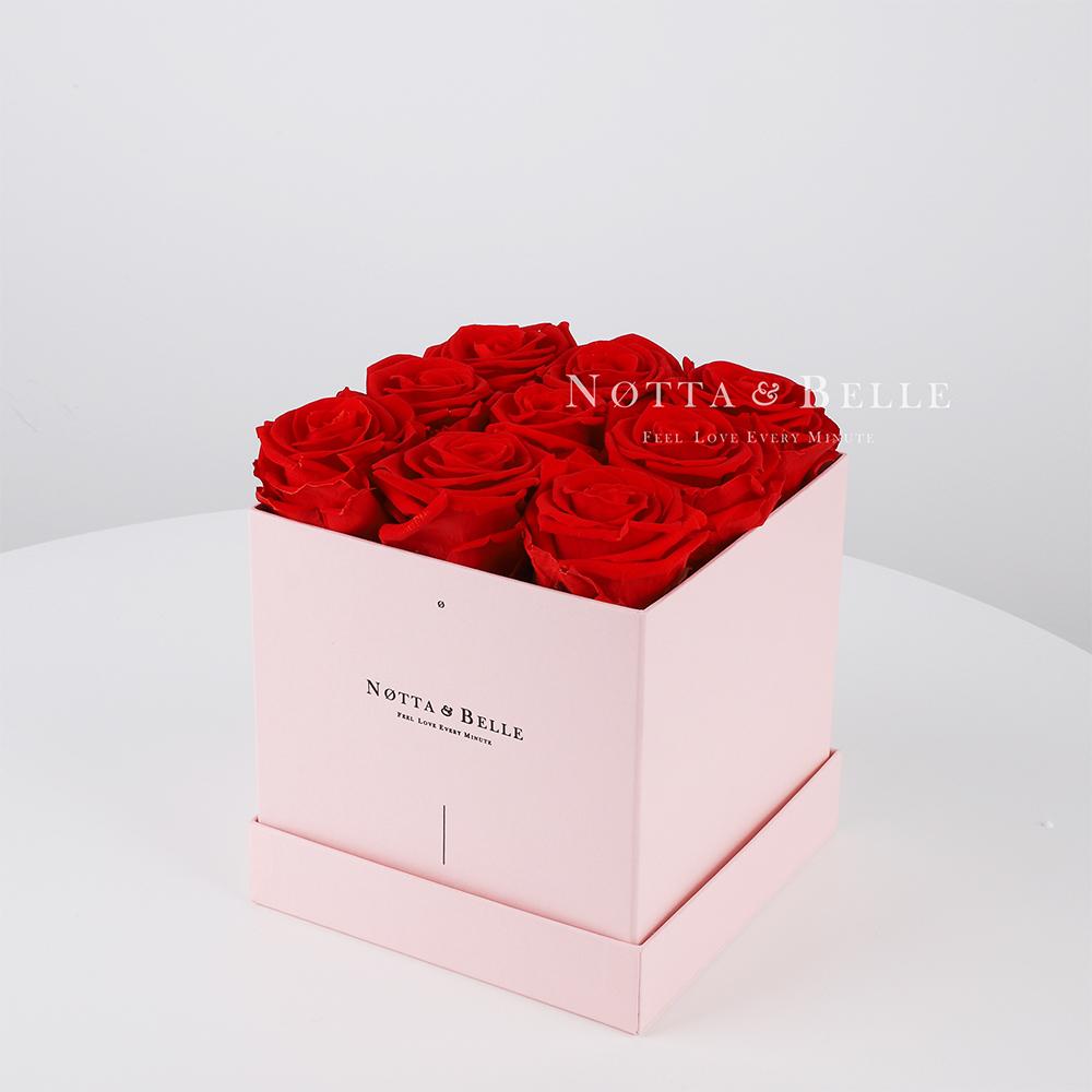 Долговечный букет из 9 красных роз - №315