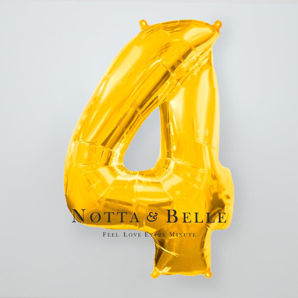 Шарик золотого цвета в виде цифры 4