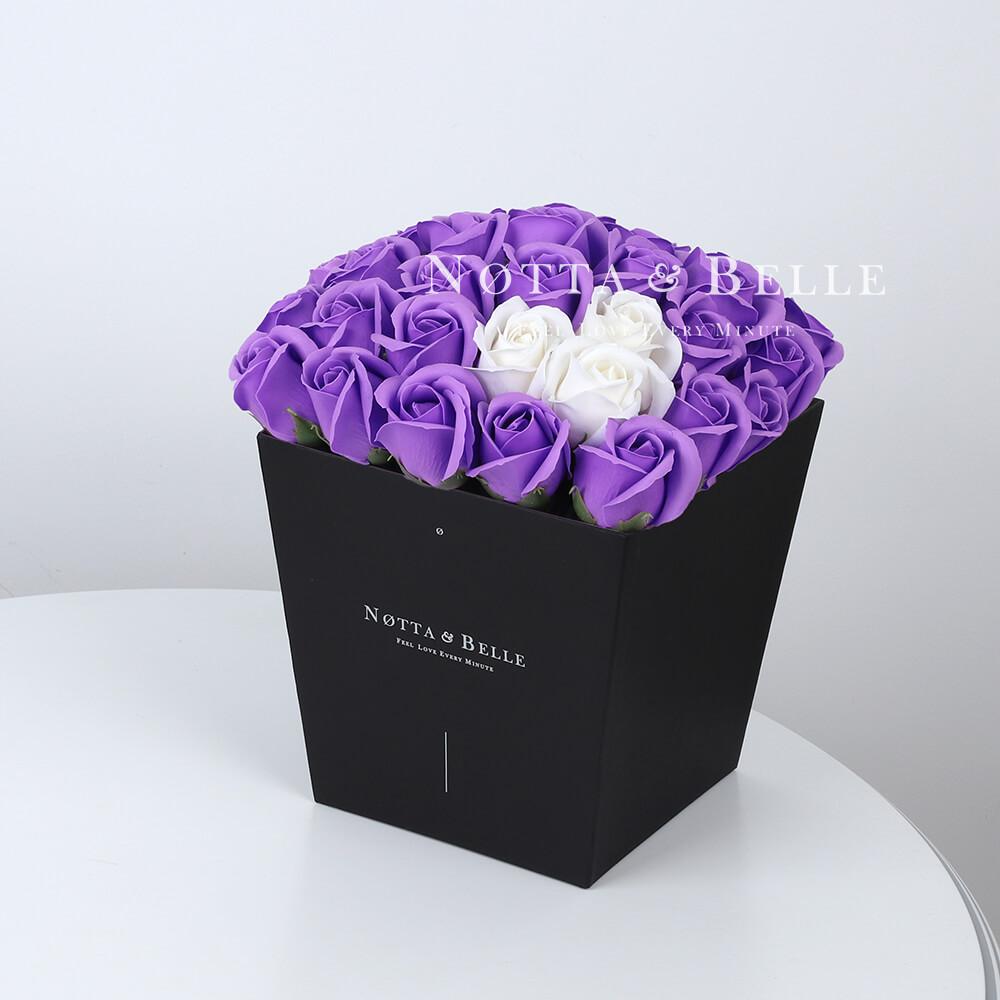 Мыльный букет лавандового цвета №452 из 35 розы