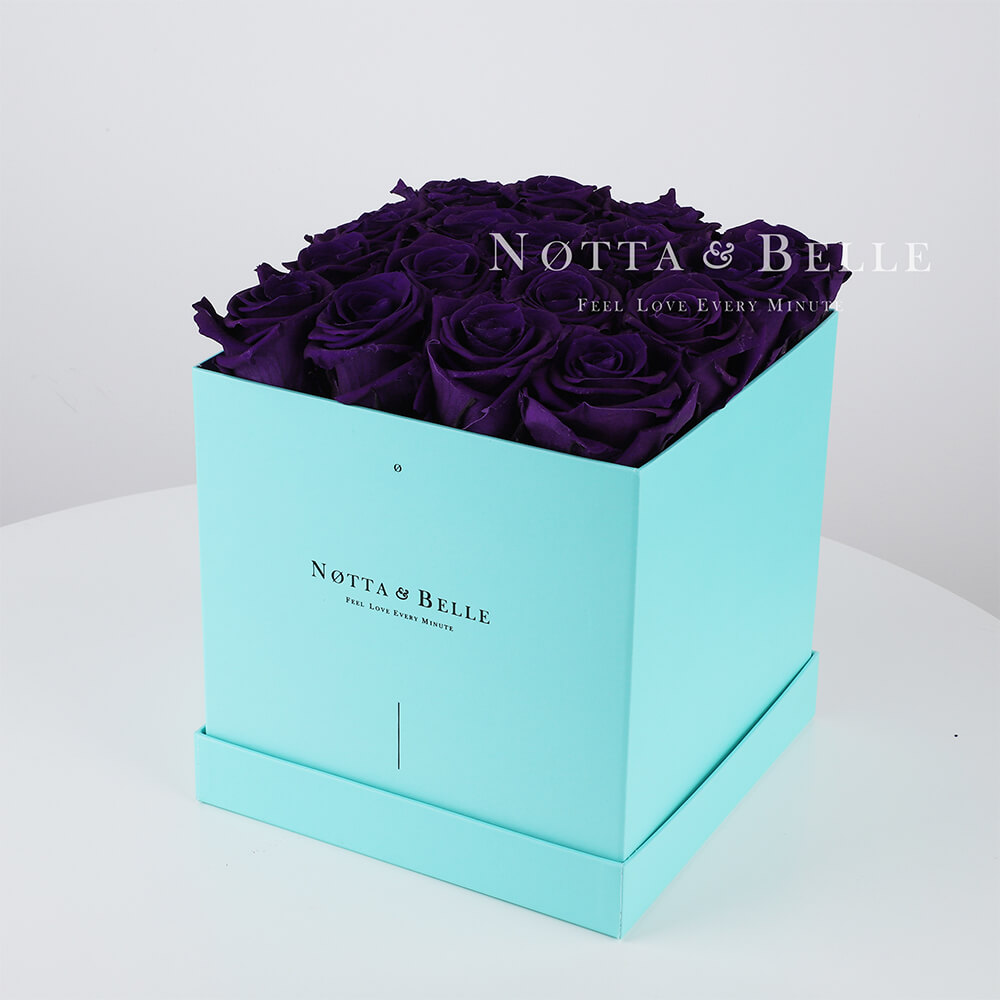 Долговечный букет из 17 фиолетовых роз - №453
