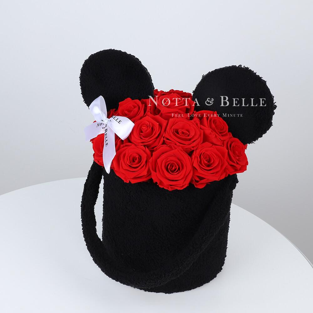 Долговечный букет из 19 красных роз - №1312