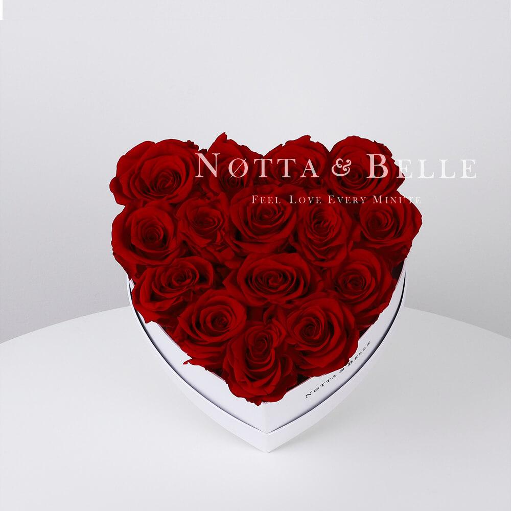 Долговечный букет из 15 бордовых роз - №861