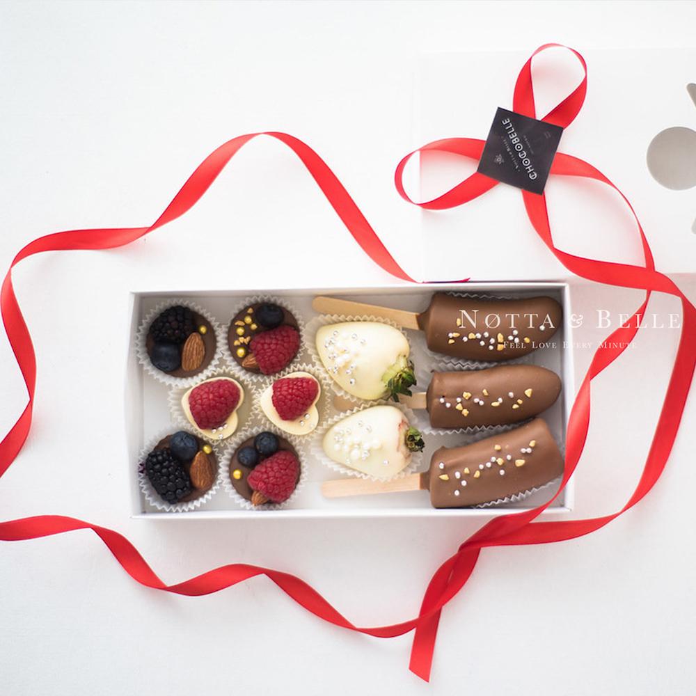Ягоды в шоколаде - Ассорти из 12 конфет
