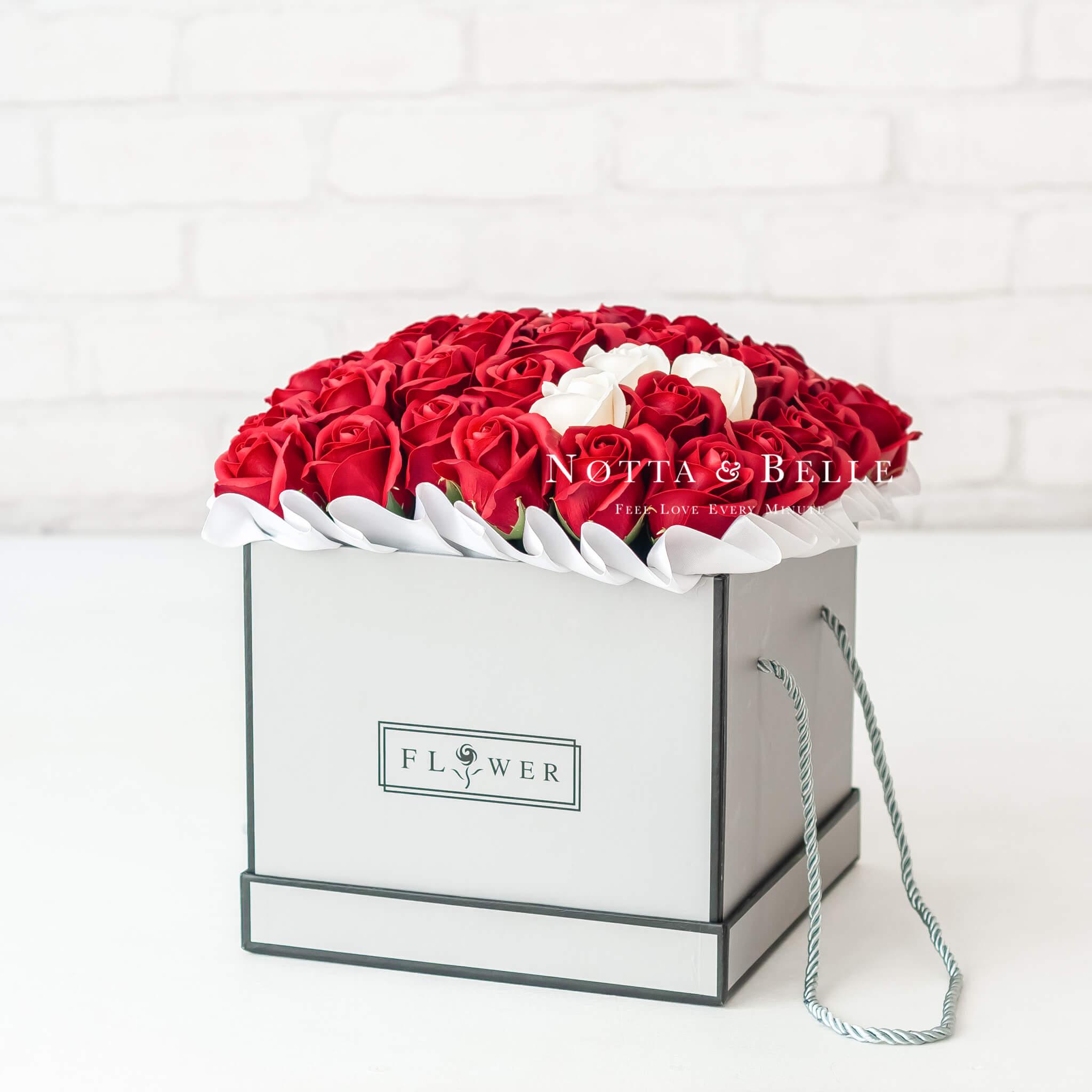 Мыльные розы красного цвета №311 King
