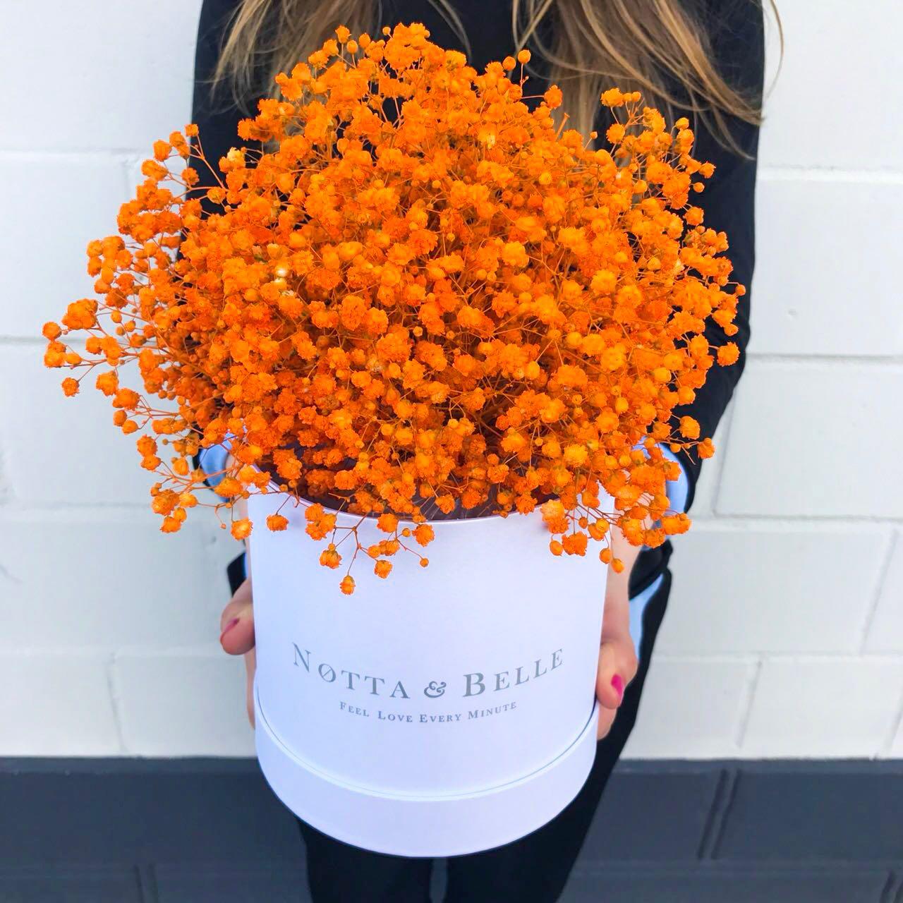 Букет из оранжевой гипсофилы - Mini