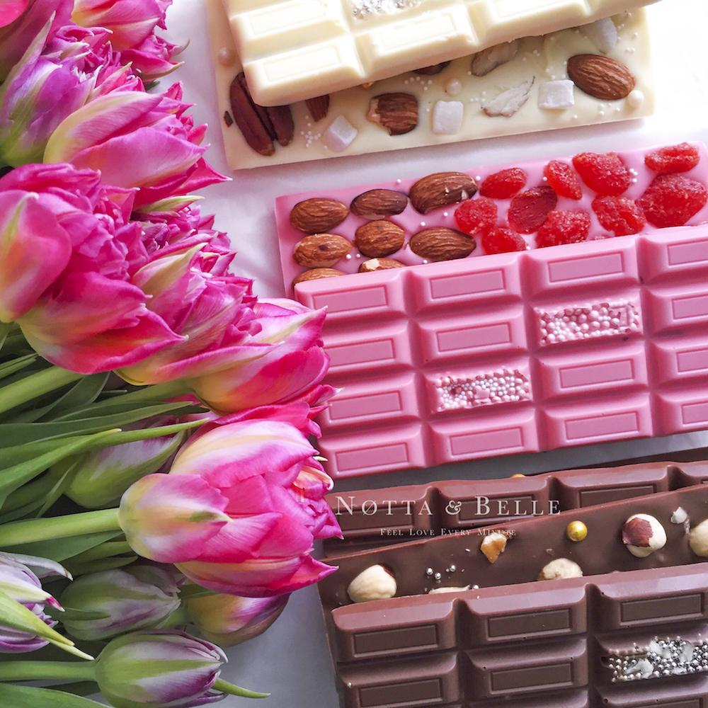 Клубничная плитка шоколада от Notta & Belle