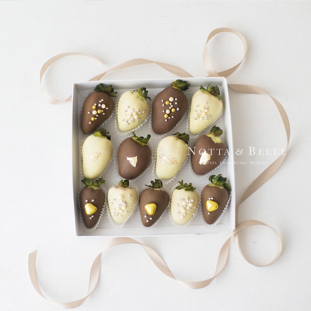 Клубника в шоколаде, набор из 12 штук.