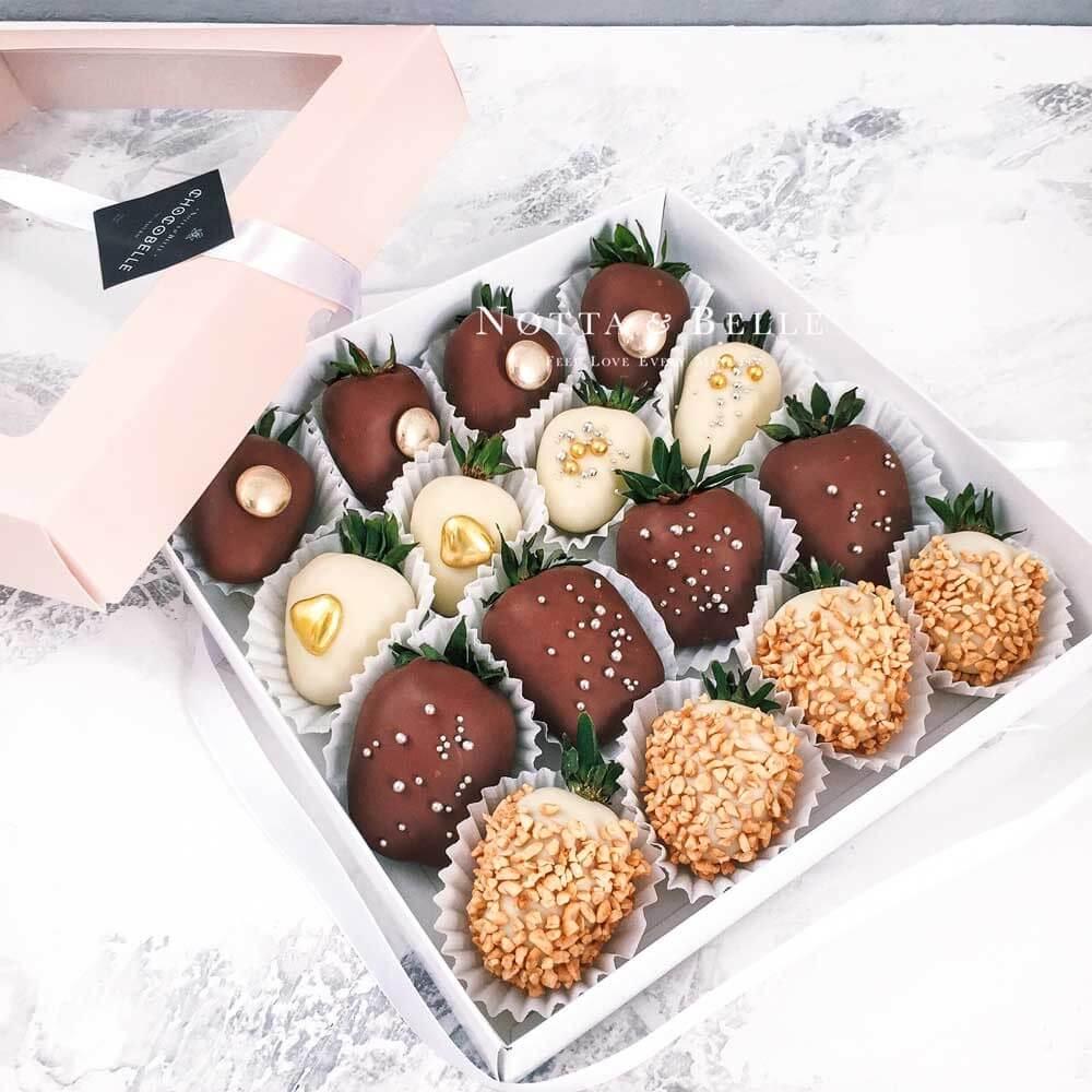 Клубника в шоколаде, набор №6 из 16 штук.