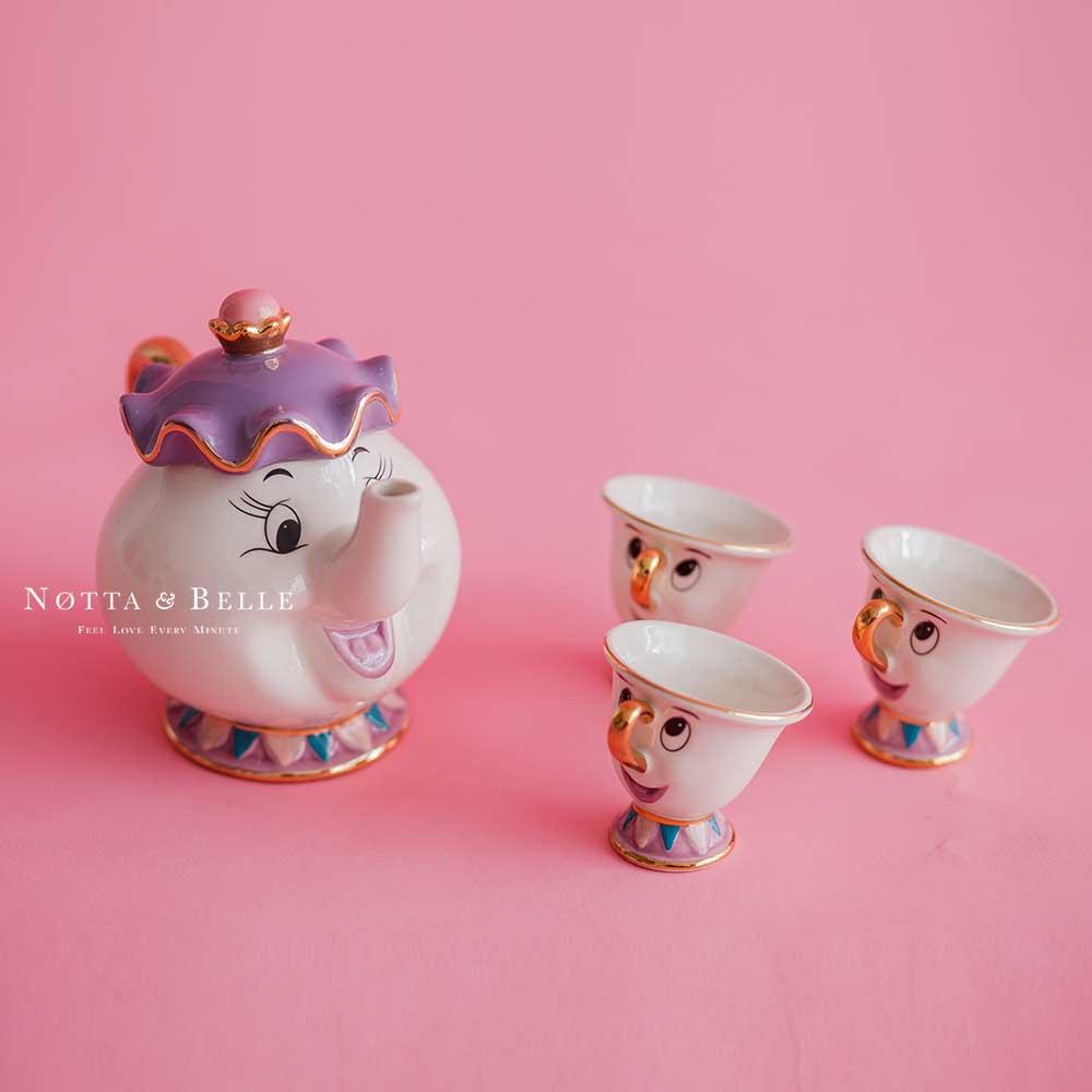 Чайный набор - «Красавица и чудовище» с тремя чашками