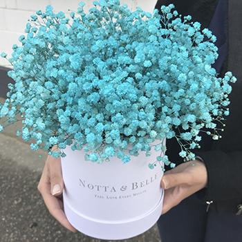 Букет из голубой гипсофилы цвета Тиффани - Mini