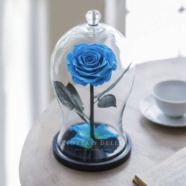 Голубая роза в фигурной колбе - Premium X