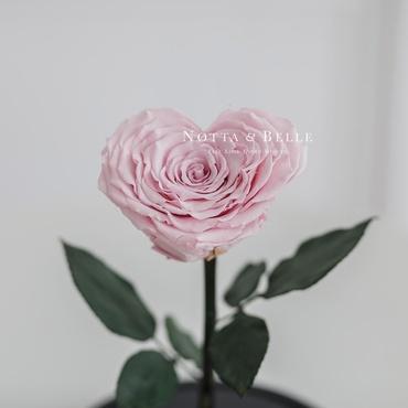 Бутон в форме сердца нежно розовой розы в колбе - Premium