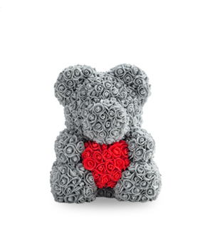 35 cm bear with heart